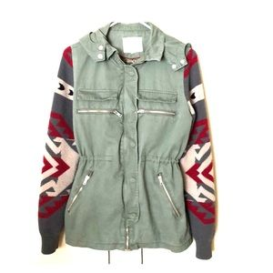 Jackets & Blazers - Army jacket with knit sleaves